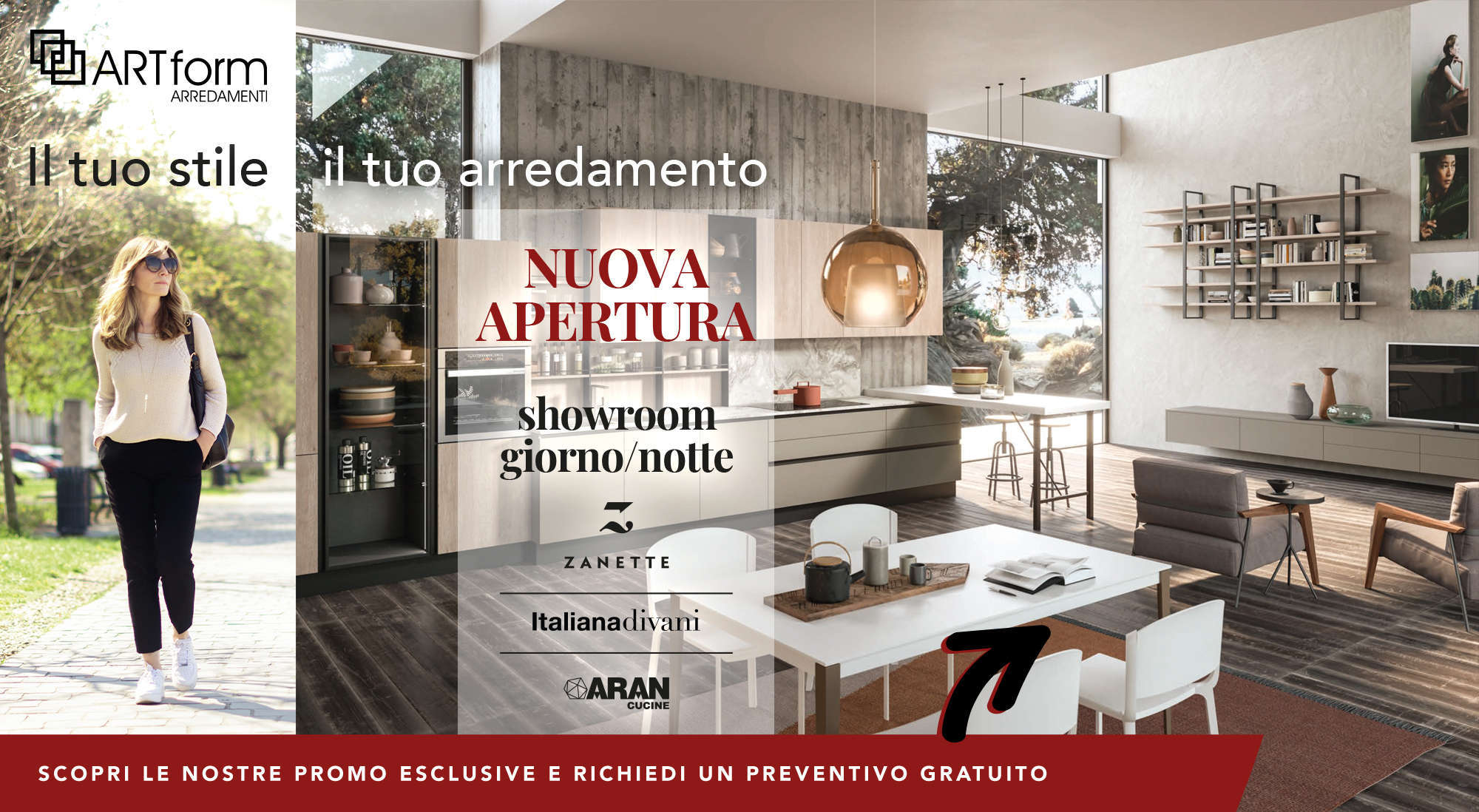 landing page desktop Art Form nuovo showroom main