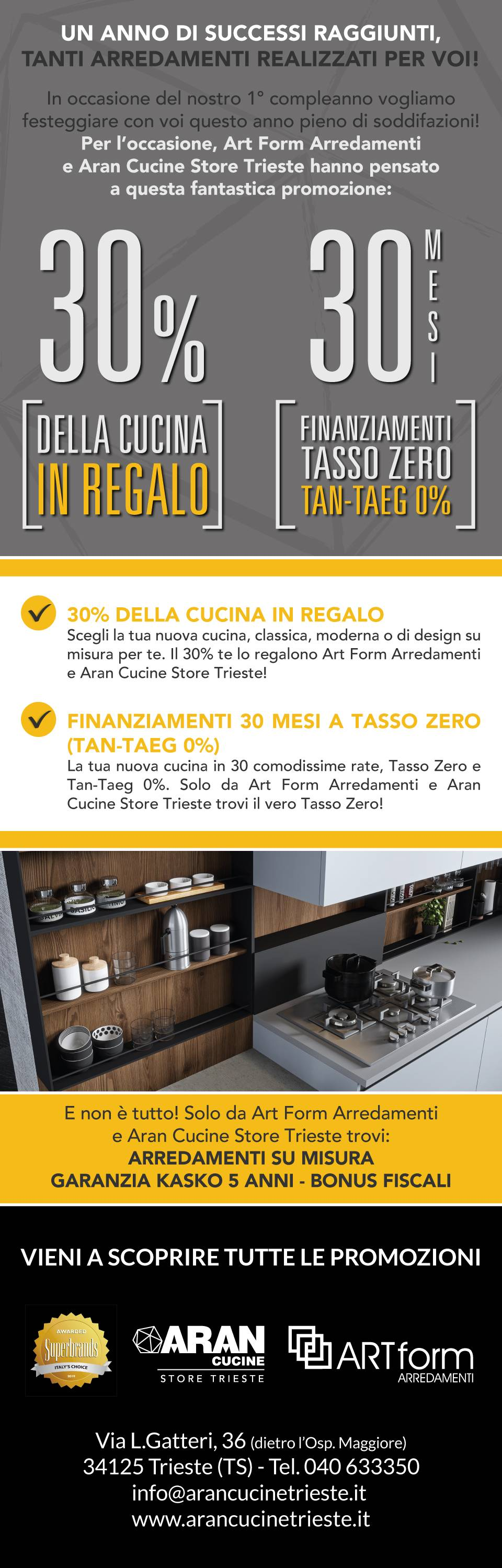 landing page mobile art form casa mia footer